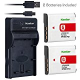 Kastar Battery (X2) & Slim USB Charger for Sony NP_BG1 NP...