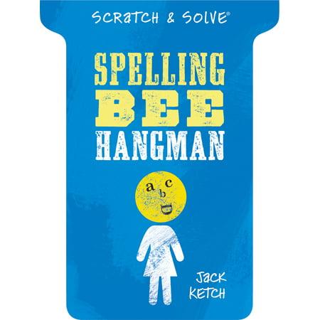 Scratch & Solve(r) Spelling Bee Hangman - Halloween Spelling Activities