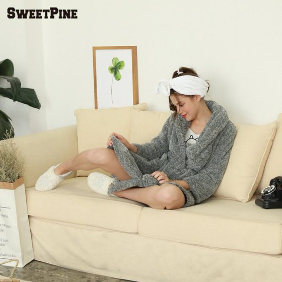 Women Soft Warm Flannel Bath Robe Nightgown Women s Sleepwear Dressing Gown  Nightgown - Walmart.com ef9808375