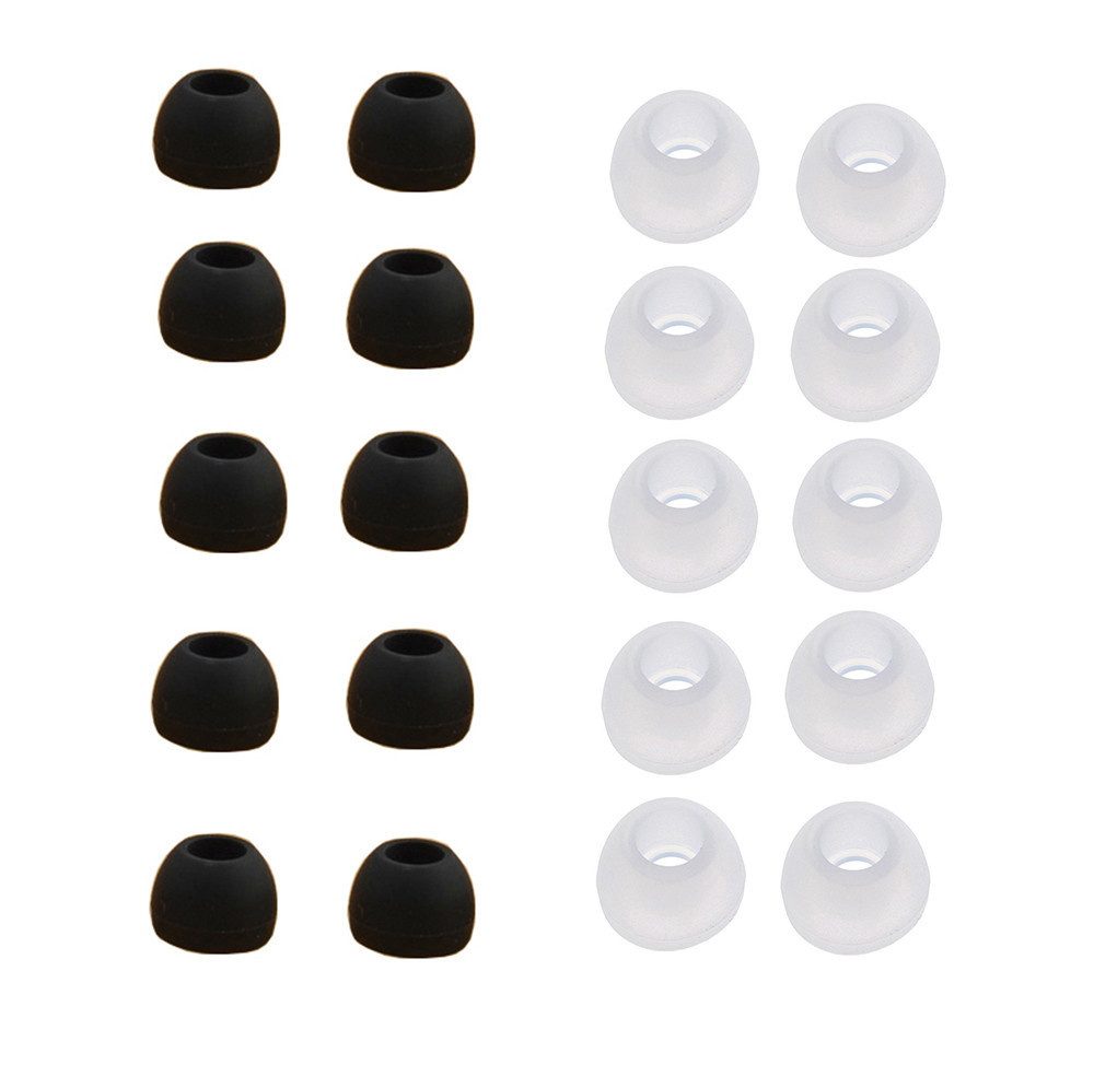Outtop 10 Pairs Medium Size Clear Silicone Replacement Ear Buds Tips For Sony Phillips