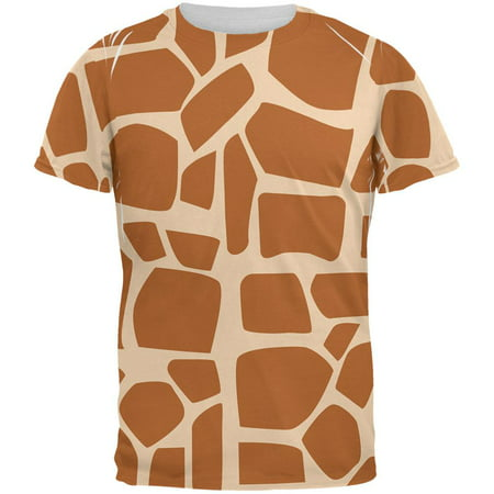 1980s Halloween Cartoons (Halloween Giraffe West African Cartoon Costume All Over Mens T)