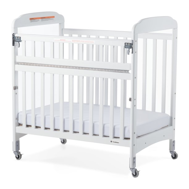 Foundations Next Gen Serenity Safereach Compact Portable Mini Crib With Mattress White Walmart Com Walmart Com