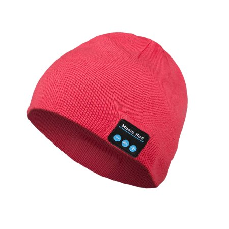 Bluetooth Beanie, EEEKit Wireless Bluetooth 4.2 Beanie Hat Washable Warm Winter Knit Hat Hands-Free Calling Noise Cancelling Headset with Mic for Skiing Running (Running Wool Hat)