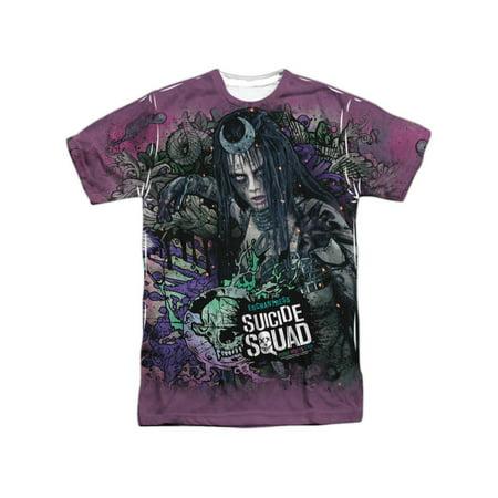 Suicide Squad DC Comics Enchantress Psychedelic Adult Front/Back Print T-Shirt - Dc Enchantress