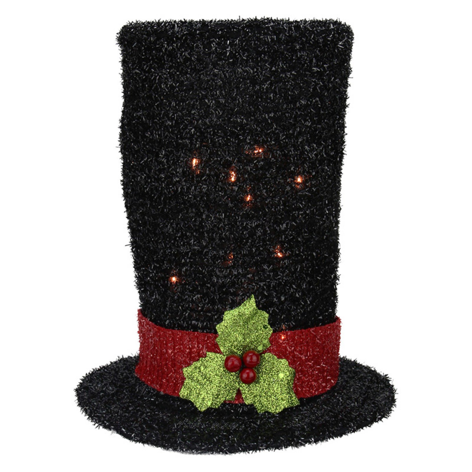 Northlight 9 in. Lighted Snowman Top Hat Tree Topper