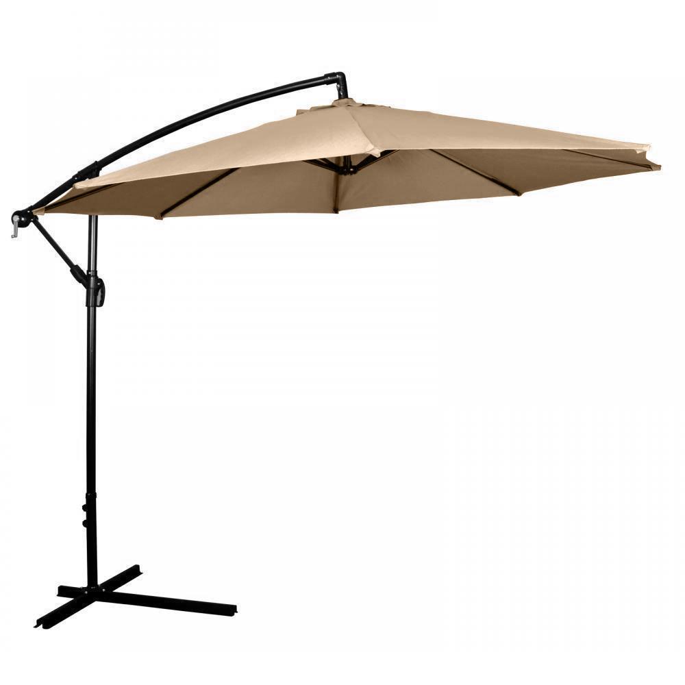 10' ft hanging umbrella patio sun shade offset outdoor market w Base for 10 Ft Umbrella