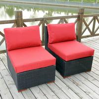 Nevis Armless/Slipper Chair, 2pk, Red