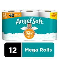 Angel Soft Toilet Paper, 12 Mega Rolls (= 48 Regular Rolls)