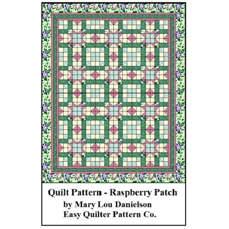 Quilt Pattern: Raspberry Patch - eBook (9 Patch Quilt Pattern For Baby Quilt)