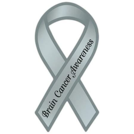 Ribbon Shaped Awareness Support Magnet - Brain Cancer - Cars, Trucks, SUVs, Refrigerators