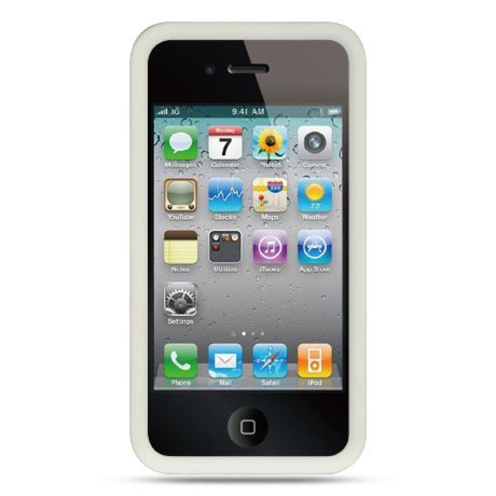 iphone 4s walmart insten soft rubber cover for apple iphone 4 4s white 10941