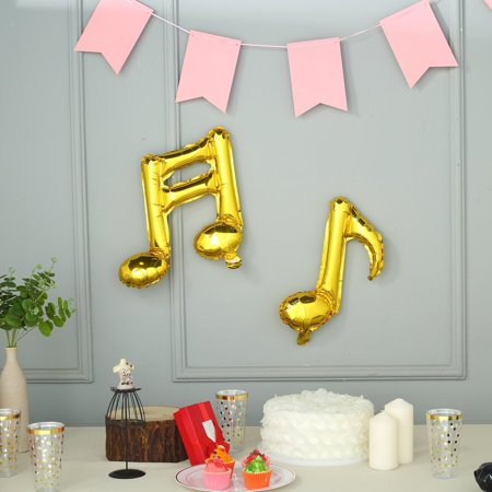 BalsaCircle 6 pcs Music Notes Mylar Foil Balloons - Wedding Graduation Event Birthday Reception Party Wholesale Decorations Supplies (Music Note Party Theme)