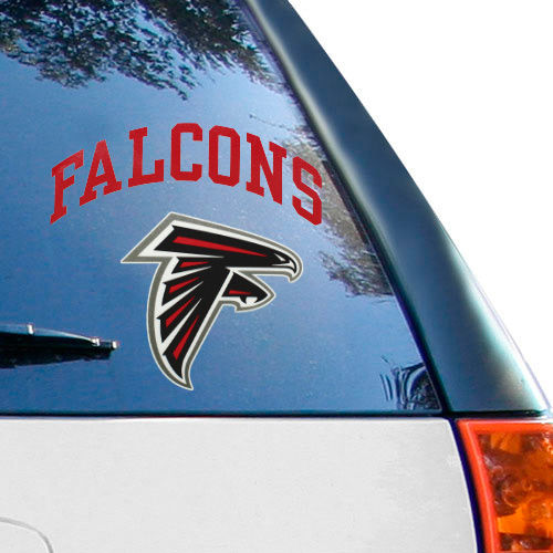 Atlanta Falcons 8'' x 8'' Arched Logo Decal