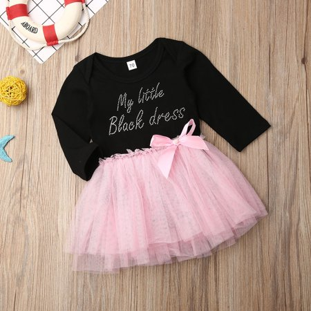 Newborn Infant Baby Girl Bowknot Dress Lace Tulle Party Bridesmaid Pageant Dress - image 3 of 5