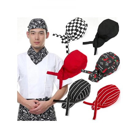Pirates Chef Tableware Skull Kitchen Cap Professional Catering Various Chef Hat for $<!---->