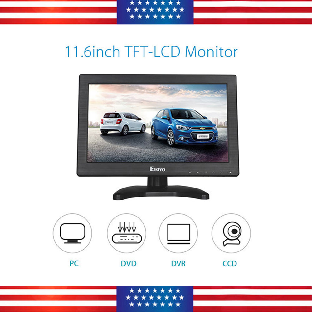 "NEW Portable 11.6"" TFT LCD Color Monitor Screen HDMI BNC AV PC Input"