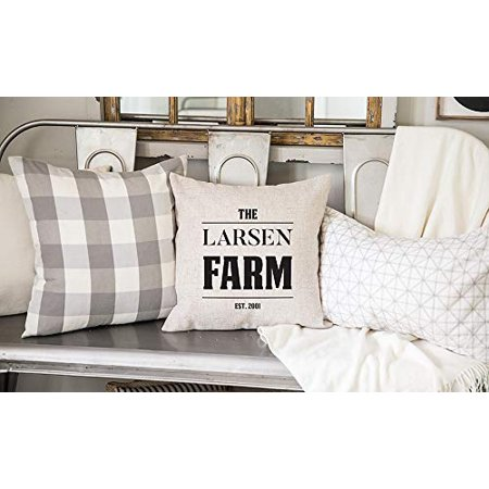 Qualtry Personalized Family Farm Pillow Cover Home Accents Country Decor 18inch X 18inch Farmhouse Cottage Throw Pillows Cases Birthday Gifts For Mom And Grandma Larsen Design Walmart Com Walmart Com