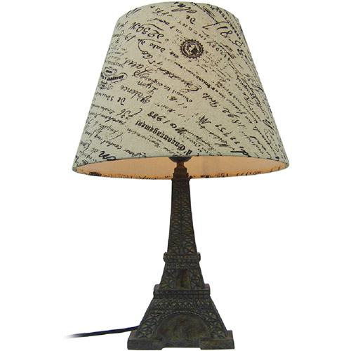 Simple Designs Eiffel Tower Lamp with Paris Shade