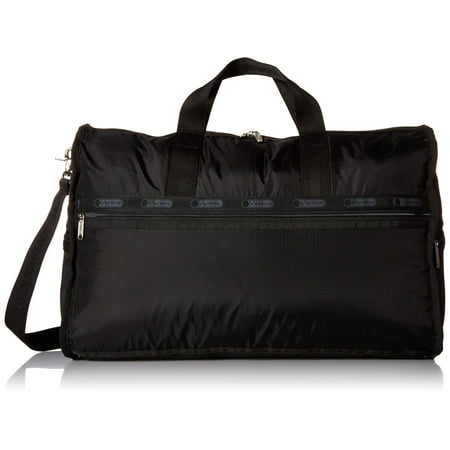 LeSportsac Large Weekender Handbag (Black) (Joy Mangano St Barts Canvas Chic Collection)