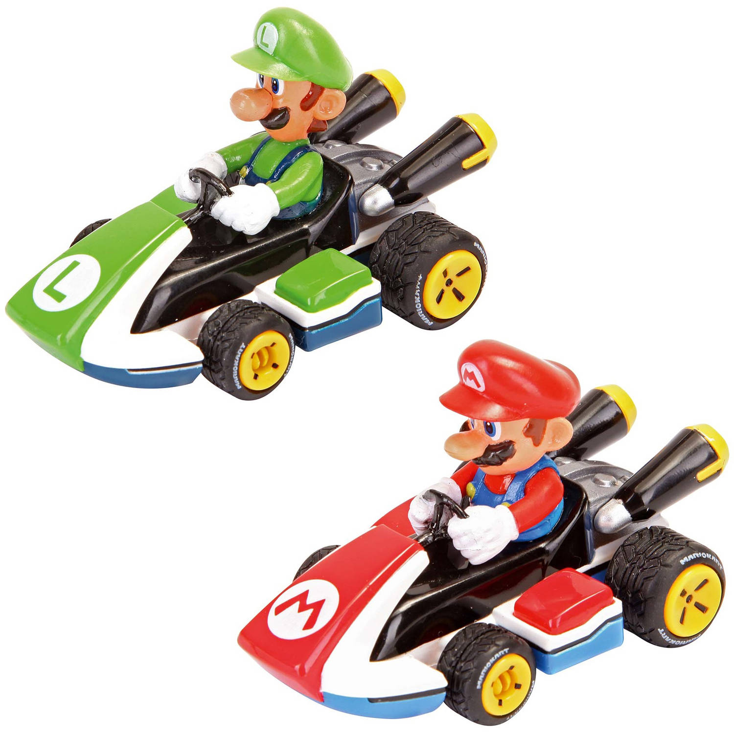 Carrera Pull and Speed Mario Kart 8 Twin-Pack Racers, Mario and Luigi