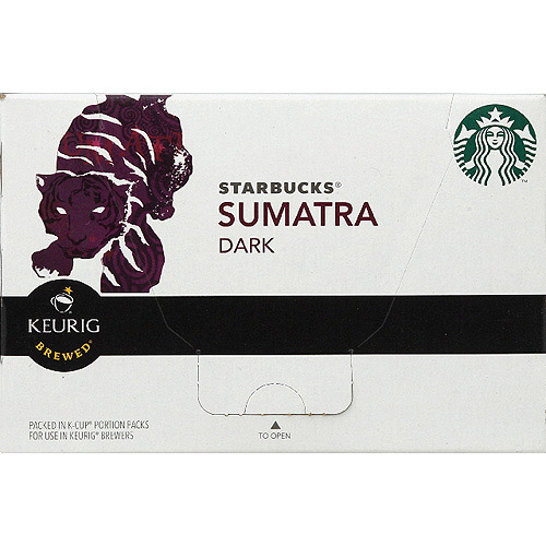 Starbucks Sumatra Dark Roast Ground Coffee K-Cups, 4.2 oz, (Pack of 6)