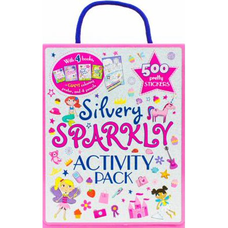 Silvery Sparkly Activity Pack : With 4 Books and 500 Pretty -
