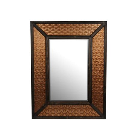 36 x 2.5 x 40 in. Wood & Metal Mirror - Copper - image 1 de 1