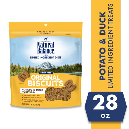 Natural Balance L.I.T. Limited Ingredient Treats Potato & Duck Formula Dry Dog Treats, 28-Ounce