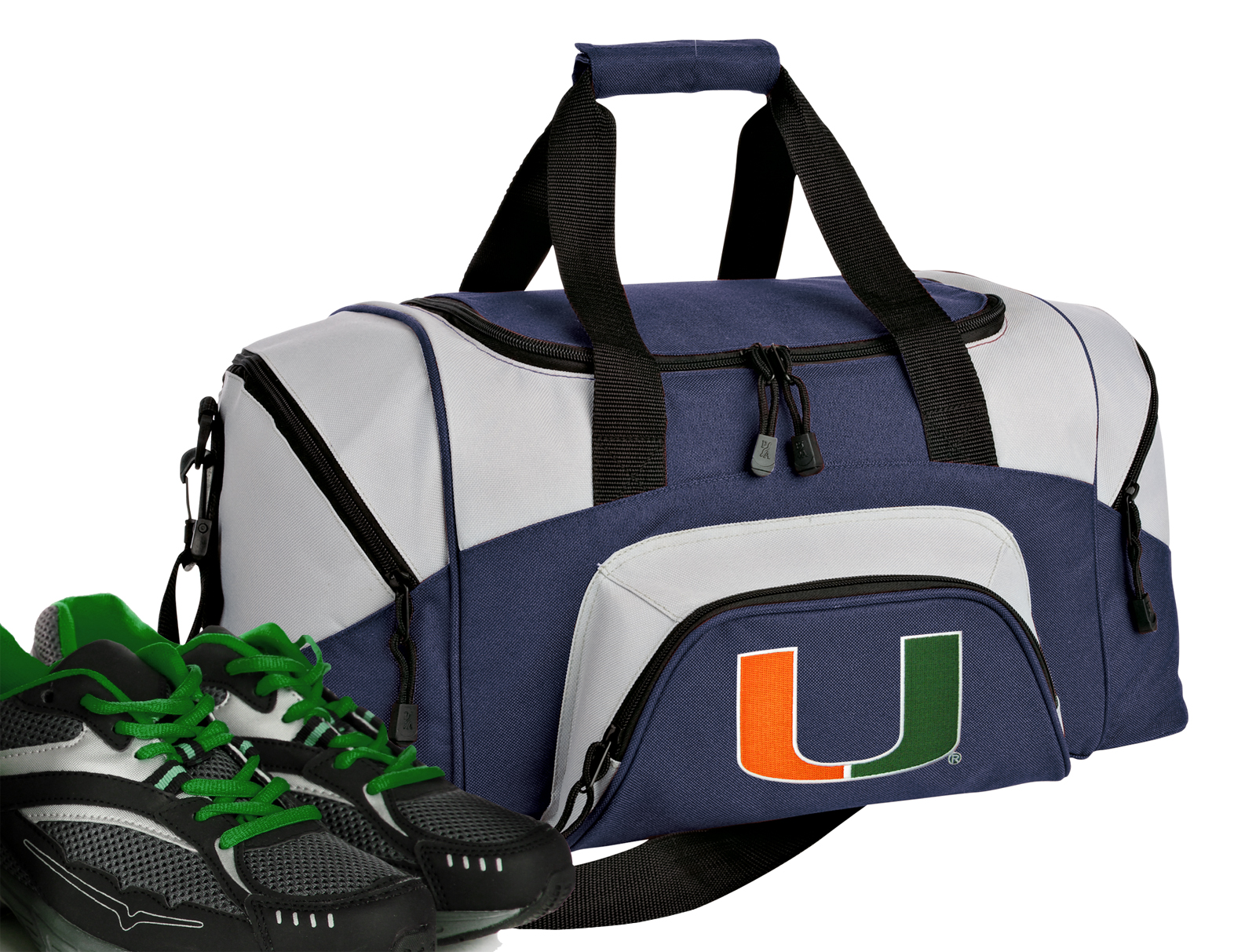 Small University of Miami Duffle Bag or Small Miami Gym Bags by
