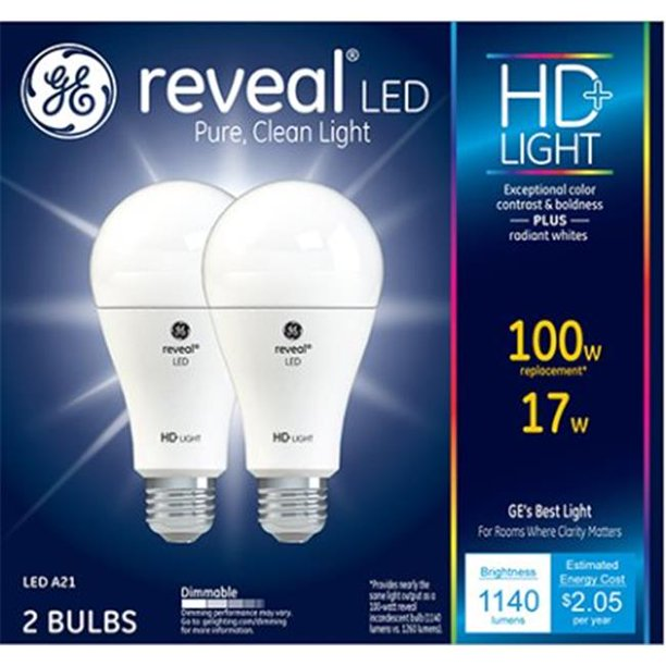General Electric 98878 100W LED ReveaL Light Bulb with ...