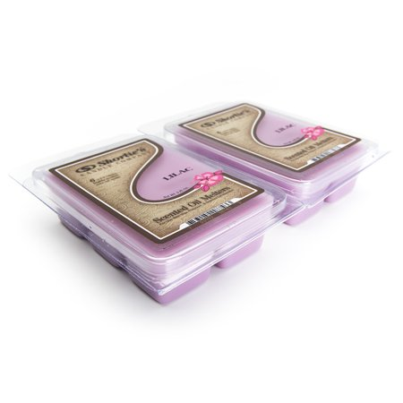 Pure Lilac Wax Melts 2 Pack - Highly Scented - Floral Warmer Wax Cubes Collection