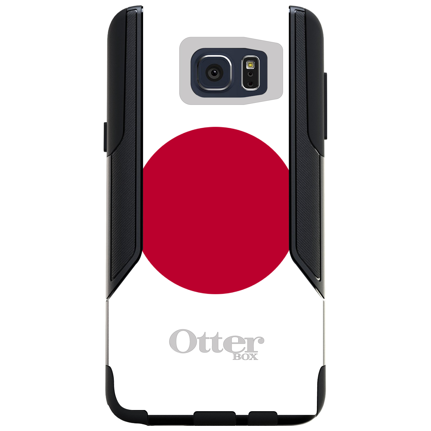 CUSTOM Black OtterBox Commuter Series Case for Samsung Galaxy Note 5 Japan Flag...