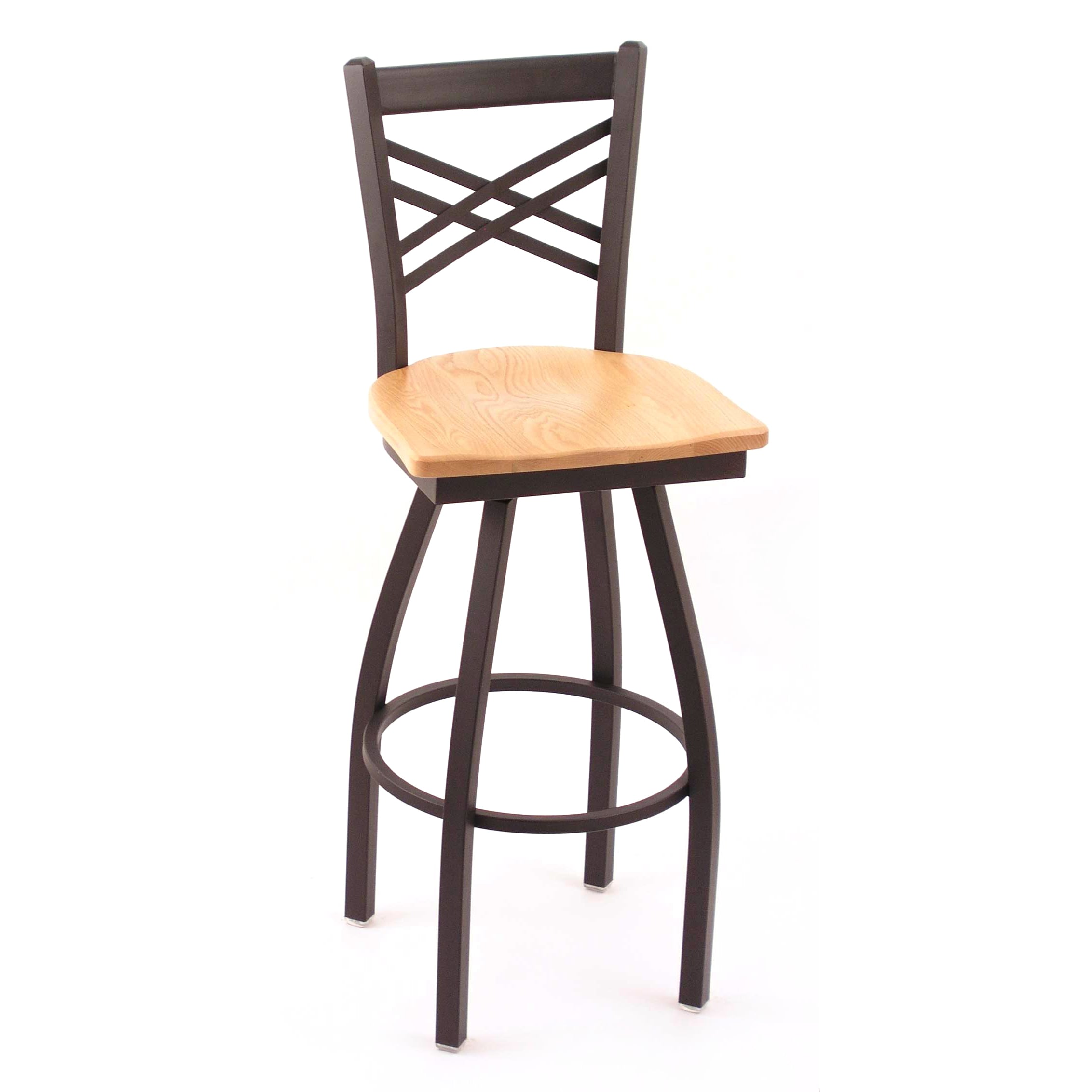Holland Bar Stool Co Cambridge Black 25 Inch Steel Counter Swivel