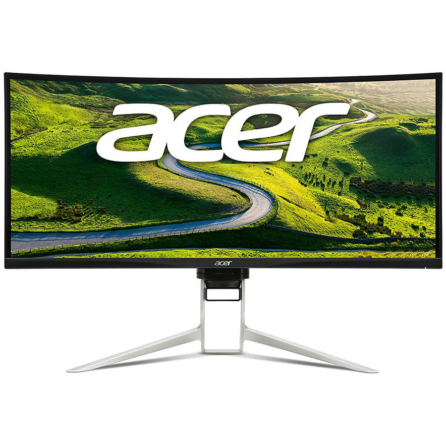 Acer 37.5-Inch Widescreen  XR Curved QHD Gaming Monitor XR382CQK BMIJQP -  Ultrawide QHD Resolution 3440x1600 , 21:9 AspectRatio, Hdmi, USB3.0 Silver 5ms