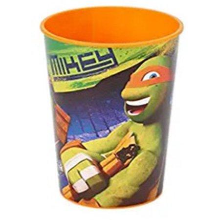 Teenage Mutant Ninja Turtles Mikey Plastic 16 Oz Reusable Keepsake Favor - Plastic Ninjas