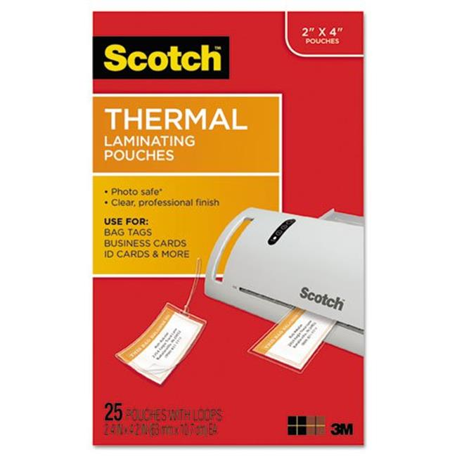 3M & Commercial Tape Div TP585325 Luggage Tag Size Thermal Laminating Pouches, 5 mil.