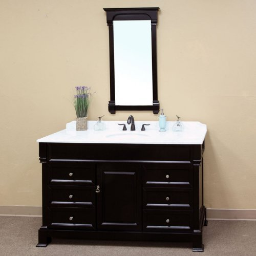 Bellaterra Calabria 60-in. Espresso Single Bathroom Vanity with Optional Mirror