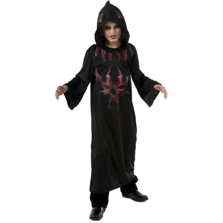 Child's Boys Black And Red Scary Evil Devil Costume (Devil Costume For Boys)