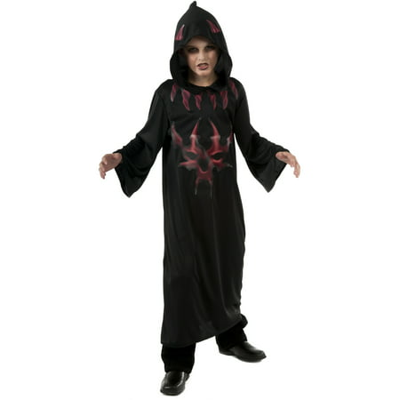 Child's Boys Black And Red Scary Evil Devil Costume