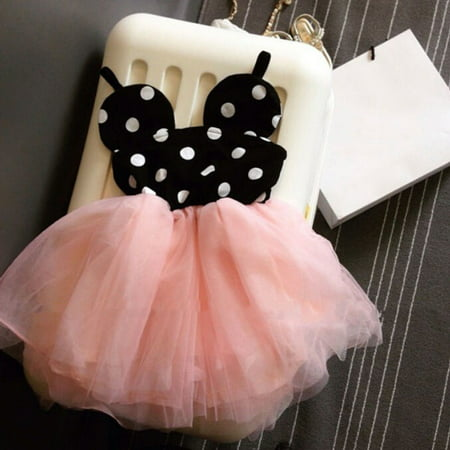 Pink Baby Girls Lace Dress Cute Princess Dress Kids Toddler Skirt Tutu Dress Party](Cute Squirt)