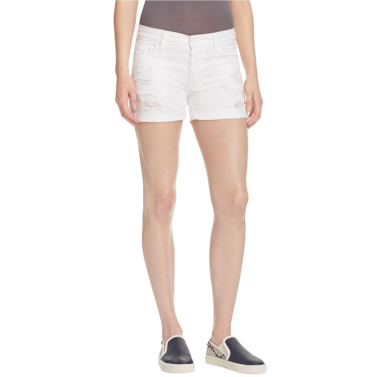Rails Womens Denim Distressed Denim Shorts