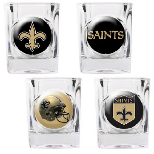 Great American Products New Orleans Saints Shot Glass Set 4pc Collectors Shot Glass Set