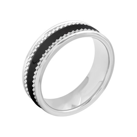 - Men's Tungsten and Ceramic 7MM Two-Tone Wedding Band - Mens Ring