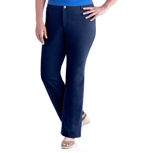 Faded Glory Women's Plus-Size Knit Ponte Bootcut Pants