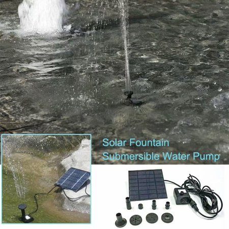 1.5W Solar Power Fountain Garden Pond Pool Water Feature Pump Panel Submersible Water Pump -