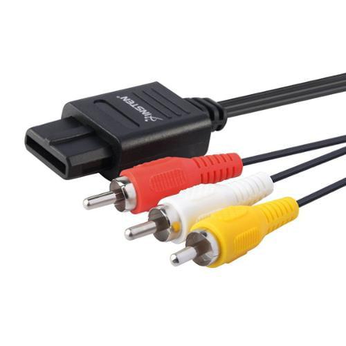 Insten Lot Of 20 6 Feet 6Ft GameCube AV Cable Cord For Nintendo 64 n64
