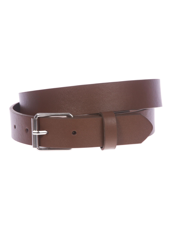 "Kids 1"" Snap On Plain Leather Belt"
