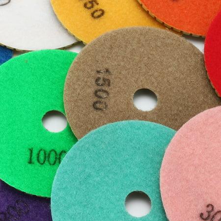 4 Inch Diamond Wet Polishing Sanding Grinding Pads Disc 10