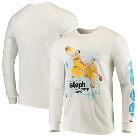 Stephen Curry Golden State Warriors Nike Time Warp Long Sleeve T-Shirt - White