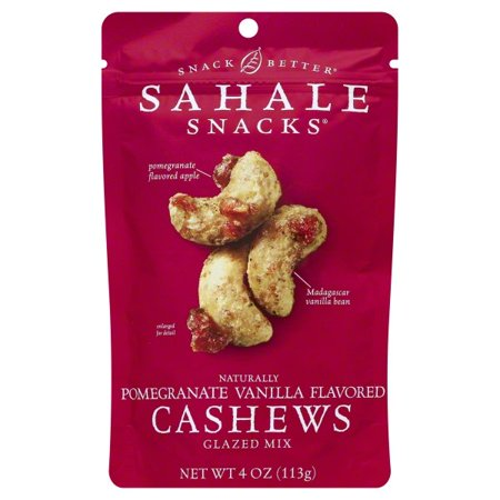 Sahale Snacks Naturally Flavored Pomegranate Vanilla Cashews Glazed Mix